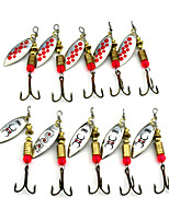 Hengjia 10pcs Spoon Metal Fishing Lures 65mm 4.7g Spinner Baits Random Colors