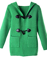 Girl's Green Jacket & Coat,Dresswear Cotton Winter / Fall