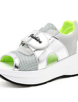 Summer Women's Sandals Casual Shoes Breathable Mesh Peep Toe Women Shoes Increased Heavy-Bottomed Flat Sandals