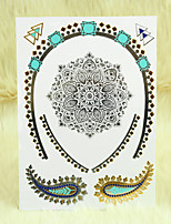 Tattoo Metalic Classic Jewelry Luminous Temporary Necklace Tattoo Sticker