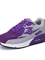 Women's Sneakers Spring Summer Mary Jane Comfort Couple Shoes Tulle Outdoor Athletic Casual Flat Heel Lace-up Black/White Purple Gray