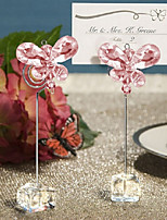 Pink Acrylic crystal Butterfly Place Card Holders wedding decoration BETER-SJ015