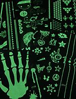 Glow in the Dark PVC Fluorescent Tattoo Body Painting Stencils