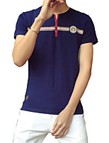 Men T-shirt half sleeve cotton T-shirt new men's slim short sleeved T-shirt printing tide Korean male tide
