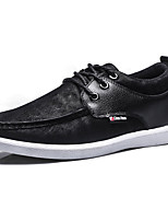 Men's Shoes Outdoor / Athletic / Casual Leatherette Fashion Sneakers / Slip-on Black / Blue / Brown