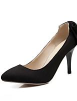 Calçados Femininos-Saltos-Saltos-Salto Agulha-Preto / Rosa / Vermelho / Cinza-Courino-Escritório & Trabalho / Casual / Social
