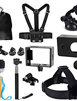 1set Accessori GoPro Accessori Kit Per Xiaoyi Tutto in uno Universali / Bicicletta / Arrampicata / Others Plastica nero
