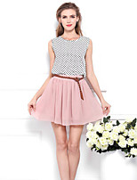 Women's Solid Pink Skirts,Boho / Holiday Mini