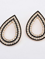 Female Fashion Wedding Party Charm Jewelry Vintage Bohemian Women Full Rhinestone Water Stud Earrings