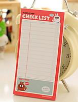 Lovely Rabbit Check List Self-Stick Note(1 PCS Random Color)