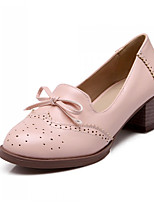 Women's Shoes Chunky Heel Heels/Round Toe Pumps/Heels Office & Career/Casual Black/Brown/Pink
