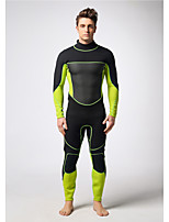 Men's Diving Suit Waterproof / Wearable / Thermal / Warm Drysuits  3 to 3.4 mm Green / Black S / M / L /