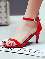 Women's Shoes Stiletto Heel Open Toe Sandals Party & Evening / Dress / Casual Black / Red / Beige