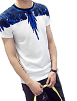 Men's Round Neck  Fashion Personality Casual Short Sleeved Printing T-shirt