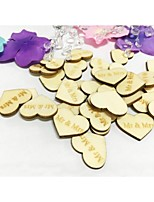 50PCS MR MRS Wooden Table Confetti Wedding Dessert Table Decoration Party Scatters
