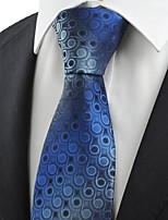 Navy Blue Gradient Swirl Paisley Pattern JACQUARD Men's Tie Necktie Gift KT0043