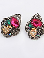 Top Fashion Jewelry Exotic Retro Personality Multicolor Alloy Stud Earrings Women Girlfriend Gifts