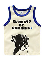 Summer Style Children Cartoon Dog Printed Tanks Top Casual Tops Baby Girls Tank Tops Clothes 2016 Fashion