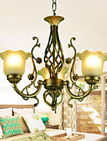 Continental Restaurant 3 Bedroom Complex Bronze Chandelier Classical Style Wrought Iron Lamp