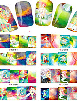 1pcs  Nail Art Water Transfer Stickers Beautiful Genius Girl Abstractive  Image Fashion C84-91