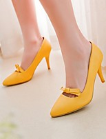 Women's Shoes Leatherette Stiletto Heel Heels Heels Wedding / Office & Career / Dress Black / Yellow / Red / Beige