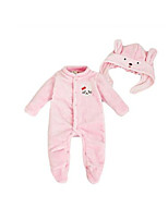Girl's Pink / White Overall & Jumpsuit,Cartoon Cotton Winter