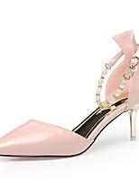 Zapatos de mujer-Tacón Stiletto-Tacones-Tacones-Vestido / Casual / Fiesta y Noche-Cuero Patentado-Negro / Rosa / Beige