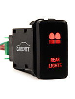 CARCHET 12v Push Rear Lights LED blue Switch Toyota Prado 150 Landcruiser 200 RAV4