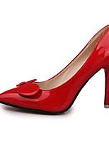 펌프스/힐-웨딩 / 야외 / 사무실 & 커리어 / 드레스 / 캐쥬얼 / 파티/이브닝-여성의 신발-힐-PU-스틸레토 굽-블랙 / 블루 / 그린 / 퍼플 / 레드 / 화이트 / 버건디