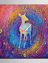 E-HOME® Color Fantasy Deer Clock in Canvas 1pcs