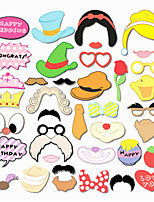 38PCS Cartoon Card Paper Photo Booth Props Party Fun Favor