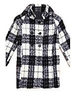 Girl's Black / Red Jacket & Coat Cotton Winter