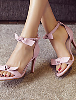 Women's Shoes Stiletto Heel Open Toe Sandals Party & Evening / Dress / Casual Black / Pink / Red