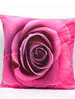 3D Rose Pattern Velvet Pillowcase Sofa Home Decor Cushion Cover (18*18inch)