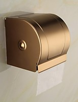 Antique Aluminum Wall Mounted Gold Toilet Paper Holder
