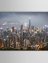 Landscape Hong Kong Skyscraper by Ben Heine Canvas Print From Ready to Hang 7 Wall Arts®