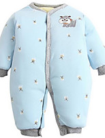 Girl's Blue Overall & Jumpsuit,Cartoon Cotton Winter