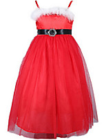 Girl's Red Dress Cotton Summer / Spring