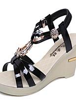 Chaussures Femme-Extérieure / Décontracté-Noir / Argent / Or-Talon Compensé-Compensées-Sandales-PU