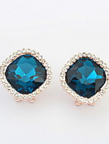 Nice 2016 Simple New Design Rhinestone Lots Color Stud Earrings Piercing Ear Studs for Women Wedding Party Gift