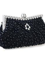 Women Glitter / Satin Minaudiere Shoulder Bag / Clutch / Evening Bag-White / Pink / Black