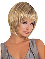 Women Beige Blonde Straight Synthetic Hair Wig