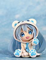 Cosplay Bear Lovely Snow Band Hatsune 7CM PVC Model Doll Toys Anime Action Figures