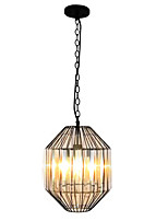 40W Pendant Light ,  Country Painting Feature for Crystal Metal Dining Room / Study Room/Office / Game Room / Garage