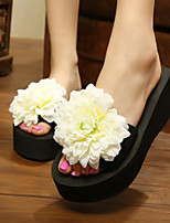 Chaussures Femme-Habillé-Bleu / Jaune / Vert / Rose / Violet / Rouge / Blanc / Orange-Plateforme-Tongs-Chaussons-Tissu
