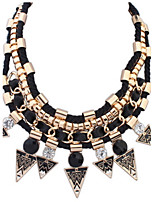 Exaggerated Punk Style Statement Necklace Pendants Link Chain Jewelry Collar For Women Party Gift