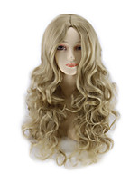 The New COS Anime Wigs Brown Curly Hair Wig