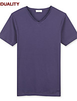 Trenduality® Men's Round Neck Short Sleeve T Shirt Black / White / Gray / Purple / Brown-ZZ003
