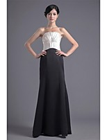 Formal Evening Dress Trumpet/Mermaid Strapless Floor-length Satin