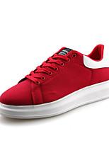 Scarpe Donna-Sneakers alla moda / Scarpe da ginnastica-Tempo libero / Casual / Sportivo-Plateau / Comoda / Chiusa-Piatto-Tessuto-Nero /
